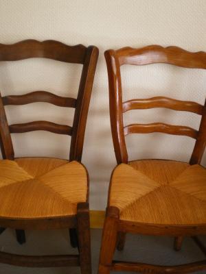 Réalisation de deux chaises en paillage